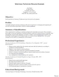 Vet Tech Resume Stunning Vet Tech Resume Summary Examples As Well As Download Veterinary