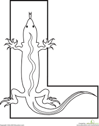 Small Picture Letter L Coloring Page Lizards Worksheets and Teacher stuff