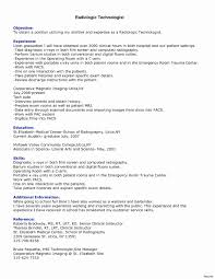 Radiologic Technologist Resume Inspirational Radiologic Technologist
