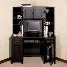 furniture tall corner black wooden desk with drawers and storage intended for tall black corner computer