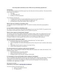 Job Letter Template From Employer Related Documents Redundancy Letter Template Acas To Employee