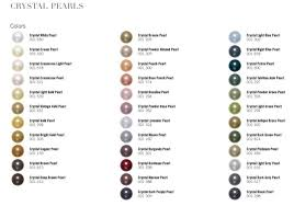 Swarovski Colour Chart Exclusively By Caren Aldred