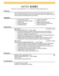 Middle School Math Teacher Resume Sample Teacher Resume Best Teacher Resume Example Livecareer 20
