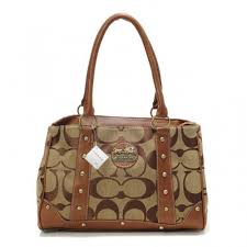 Coach Legacy In Signature Studded Small Khaki Satchels BPA