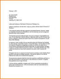Board Resignation Letters Director Resignation Letter Sample Resign