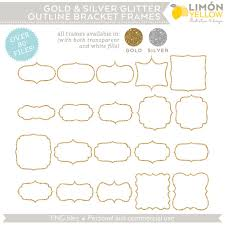 printable bracket frame. Digital Printable Frames Tags - Gold And Silver Glitter Outline Bracket Clip Art (Royalty Free) Free Frame