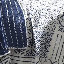 blue and white bedspread. Exellent White Lush Decor Monique 3Piece Quilt Set FullQueen Blue Amazonca Home U0026  Kitchen To Blue And White Bedspread U