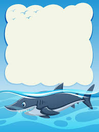 paper background design wild shark vector  paper background design wild shark vector