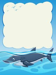paper background design wild shark vector  paper background design wild shark vector