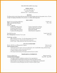 Mba Finance Resume Format Inspirational Resume Format For Mba With E