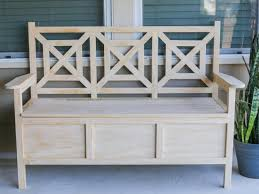 diy outdoor storage bench finish the bench
