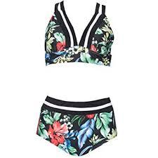 B Swim Size Chart Amazon Com Womens Bikini Sets Print Two Piece Swimsuit