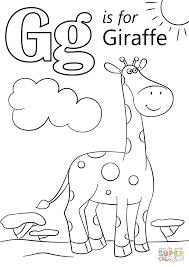 Letter G Is For Giraffe Coloring