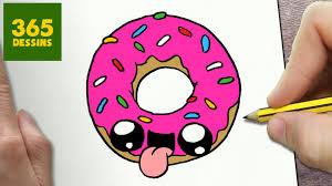 Comment Dessiner Donut Kawaii Tape Par Tape Dessins Kawaii Petit Dessin Facile Donut Kawaii L