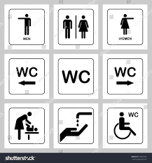 bathroom sign with arrow. Bathroom Sign With Arrow Man Toilet On White Stock Vector Shutterstock Restroom Male Female