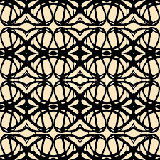 hand drawn folk ethnic ornamented seamless pattern with thick black lines in art deco style simple texture background vector art deco furniture lines