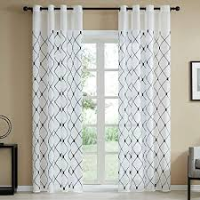 Sheer White with Navy Curtains: Amazon.com