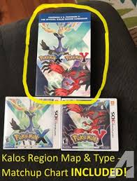 Pokemon X And Y Type Matchup Chart Pokemon X Pokemon Y The Official Kalos Region Guidebook