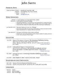 Latex Resume Examples