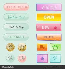 Web Elements Shop Buttons Buy Element Cart Business Banner