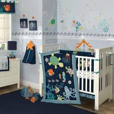 Colorful Blue Ocean Sea life Baby Boy Nursery 5pc Crib Bedding Set ... & Colorful Blue Ocean Sea life Baby Boy Nursery 5pc Crib Bedding Set w/  Turtles in Adamdwight.com