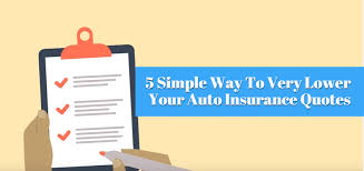 5 simple way to very lower your auto insurance quotes