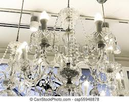 large electric chandelier made of transpa glass beads white ceiling decorated with