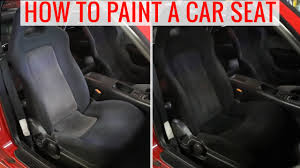 DIY painting car seats to change the color - How-to, tips and precautions -  YouTube