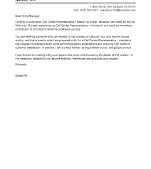 Cover Letter For Call Center Agent Without Experience Application