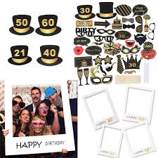 details about 18th 30th 40th 50th 60th 21st happy birthday party photo frame photo booth props