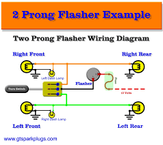 wire two prong flasher diagram automotive flashers gtsparkplugs 2 terminal flasher wiring diagram
