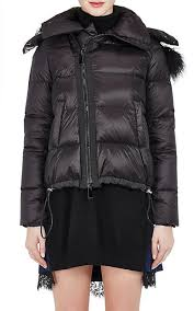 Sacai Fur-Trimmed Down-Quilted Hooded Jacket | Barneys New York & Sacai Fur-Trimmed Down-Quilted Hooded Jacket - Coats - 505297160 Adamdwight.com