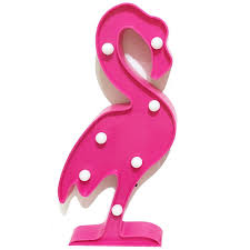 Syrovia Tropical Fiesta Plastic Flamingo Light Led Baby Night Light