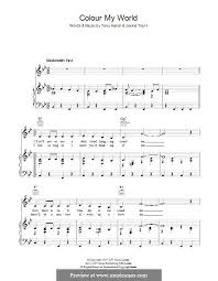 color my world sheet music colour my world by j trent t hatch sheet music on musicaneo