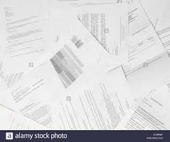 Paper Reports Scattered Paper Reports And Documents Stock Photo 35624898