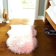 pink sheep skin rug blush fur rug pink faux area awesome sheepskin medium size hot pink