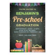 Preschool Graduation Announcements Cute Chalkboard Preschool Graduation Invitation