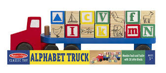 melissa doug wooden alphabet truck