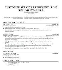 Example Of Best Customer Service Resume Objective Samples Customer Service Skills Sample
