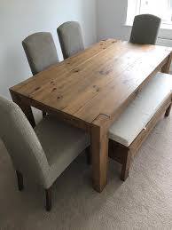 next hartford extendable dining table 4 chairs and bench with storage