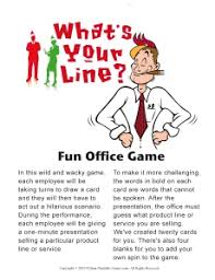 Christmas office games What's Your Line?