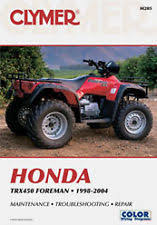 honda foreman manual clymer honda foreman 450 trx450es service repair manual service manual atv m205 fits more