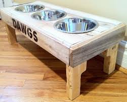 Etsy pallet furniture Coffee Image Homegramco Reclaimed Rustic Pallet Furniture Dog Bowl Stand Pet Feeding Etsy