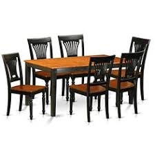 august grove pillar traditional 7 piece wood dining set with rectangular table top
