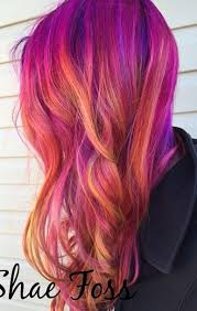 Risultati immagini per fiery orange red and pink shades for hairs