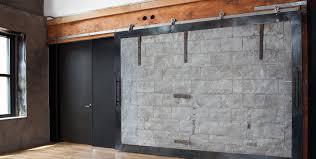 axel raw steel flat track sliding barn door