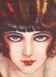 clara bow 1920s makeup look
