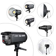 100w Led Video Light Us 239 0 20 Off Godox Sl 100w Led Video Light 100w White Led Bulbs Lamp Studio Continuous Bowens Mount Photography Lighting 220v 110v In Flashes