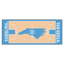 fanmats university of north ina chapel hill 3 ft x 6 ft basketball court