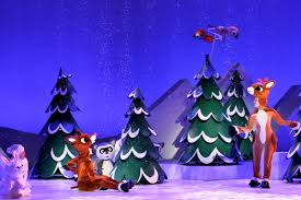rudolph the red nosed reindeer stage al bows in ny today